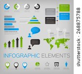 collection of infographic... | Shutterstock .eps vector #268875788