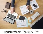 businessman working at office... | Shutterstock . vector #268877279