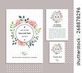 vector set of invitation cards... | Shutterstock .eps vector #268878296
