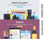set of flat design style... | Shutterstock .eps vector #268881200