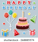 set of birthday elements | Shutterstock . vector #268885574