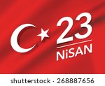 23 april national sovereignty... | Shutterstock .eps vector #268887656