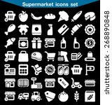supermarket icon set | Shutterstock .eps vector #268890848