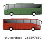 tourist bus design with single... | Shutterstock .eps vector #268897850