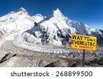 signpost way to mount everest b.... | Shutterstock . vector #268899500