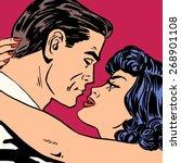 kiss love movie romance heroes... | Shutterstock .eps vector #268901108