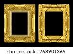 set antique golden frame... | Shutterstock . vector #268901369