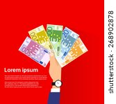 Hand Hold Euro Banknote Pack...