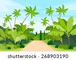 jungle forest green landscape... | Shutterstock .eps vector #268903190