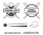 baseball set | Shutterstock .eps vector #268904198