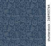 art line icon pattern set | Shutterstock .eps vector #268905764