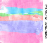 seamless watercolor rows... | Shutterstock .eps vector #268909163