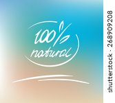 Vector Natural Label  Logo. 10...