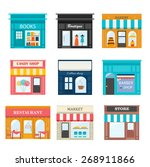 different shops and stores... | Shutterstock .eps vector #268911866