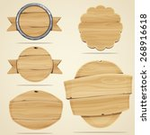 set of wood elements for design.... | Shutterstock .eps vector #268916618