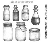 vector collection of ink hand... | Shutterstock .eps vector #268919888