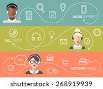 vector set of call center ...   Shutterstock .eps vector #268919939