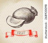 hand drawn sketch fruit mango....   Shutterstock .eps vector #268920098