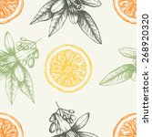 vector seamless pattern with... | Shutterstock .eps vector #268920320