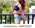 outdoor fashion image of... | Shutterstock . vector #268921619