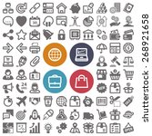 set of flat icons about web ... | Shutterstock .eps vector #268921658