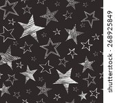 set of hand drawn stars. retro... | Shutterstock .eps vector #268925849