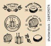 Old Brewery Logos Set. Kraft...