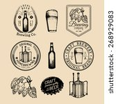old brewery logos set. kraft... | Shutterstock .eps vector #268929083