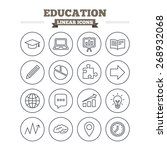 education linear icons set.... | Shutterstock .eps vector #268932068