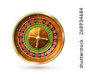 realistic casino gambling... | Shutterstock .eps vector #268934684