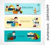 hotel horizontal banner set... | Shutterstock .eps vector #268934699