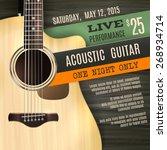 Постер, плакат: Indie musician concert show