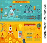 startup infographics set with... | Shutterstock .eps vector #268936958