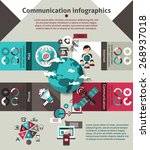 communication technology... | Shutterstock .eps vector #268937018