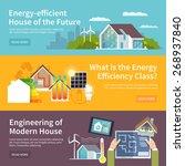 energy saving house horizontal... | Shutterstock .eps vector #268937840