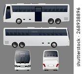 white bus | Shutterstock .eps vector #268938896