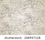vintage seamless pattern ... | Shutterstock .eps vector #268947128