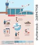 airport infographic flat design ...   Shutterstock .eps vector #268947938