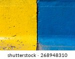 blue and yellow concrete | Shutterstock . vector #268948310