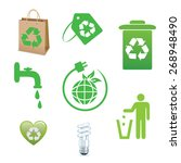 ecology icon set | Shutterstock .eps vector #268948490