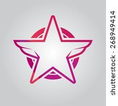 vector red star badge