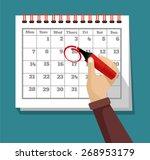 Vector Flat Calendar...
