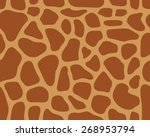 brown pattern of leather of... | Shutterstock .eps vector #268953794