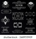 set of calligraphic and floral... | Shutterstock .eps vector #268955909