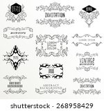 set of calligraphic and floral... | Shutterstock .eps vector #268958429