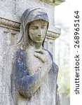 Female Statue As A Grave Stone...