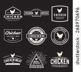 vector set of premium chicken... | Shutterstock .eps vector #268970696