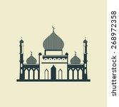 mosque. vector illustration. | Shutterstock .eps vector #268972358