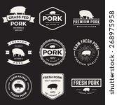 Vector Set Of Premium Pork...