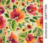 vector illustration for textile ... | Shutterstock .eps vector #268977584